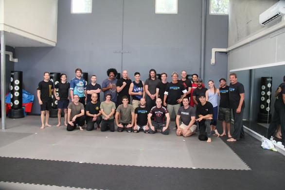 Fight training with Richard Norton
