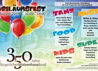 350 Jahre Bürgerliches Waisenhaus Basel – grosses Sommerfest am 25. August