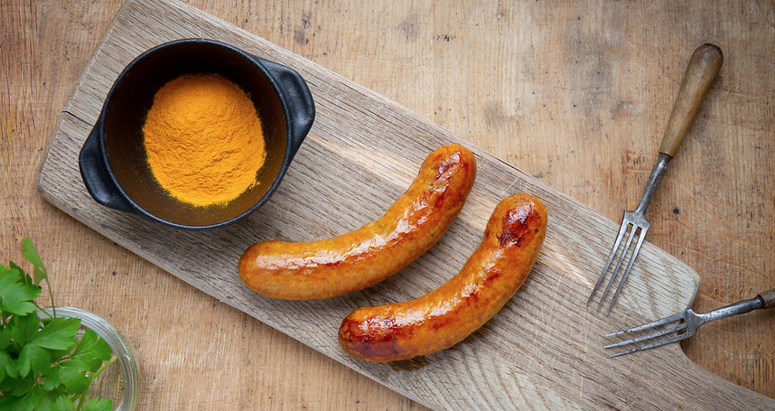 Gluten-free Currywurst Sausages <img>