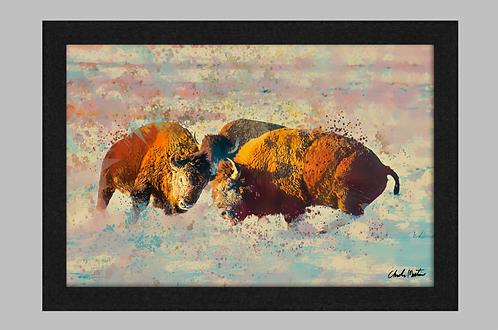 Bison Canvas Art