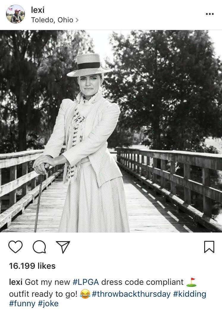 La golfista Lexi Thompson se mofa de la PLGA en su Instagram