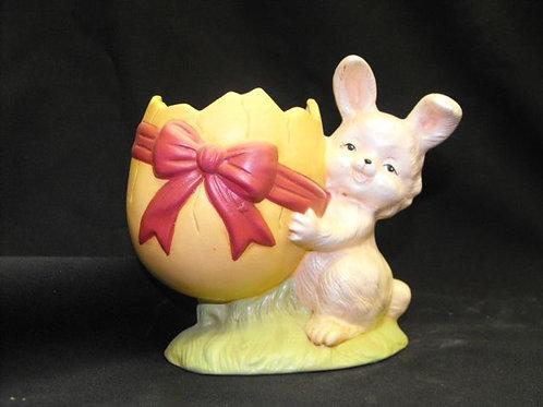 Bunny Holding Cracked Egg