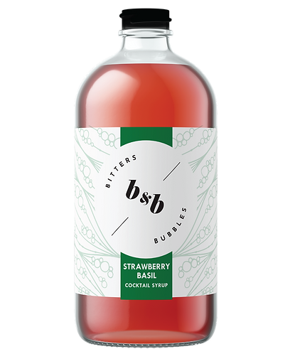 Bitters & Bubbles Strawberry Basil Syrup