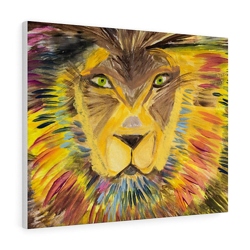 Single Lion By Healthy Home Decor Arist Sima Fisher -Stretched canvas