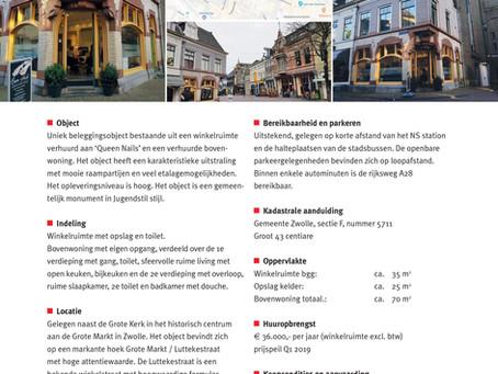 Verkocht: Grote Markt 16 te Zwolle