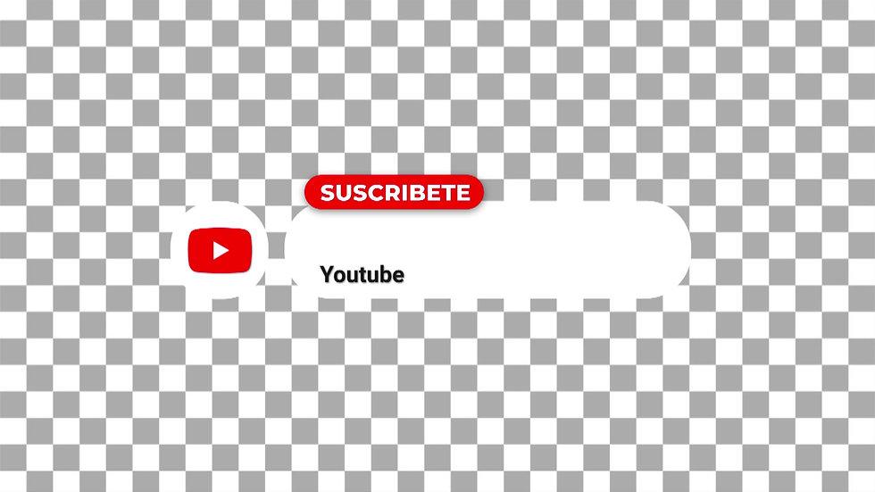 Botón Social Media: Youtube Blanco - Circulo Suscribete