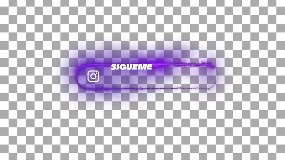 Botón Social Media: Instagram - Neón Sígueme