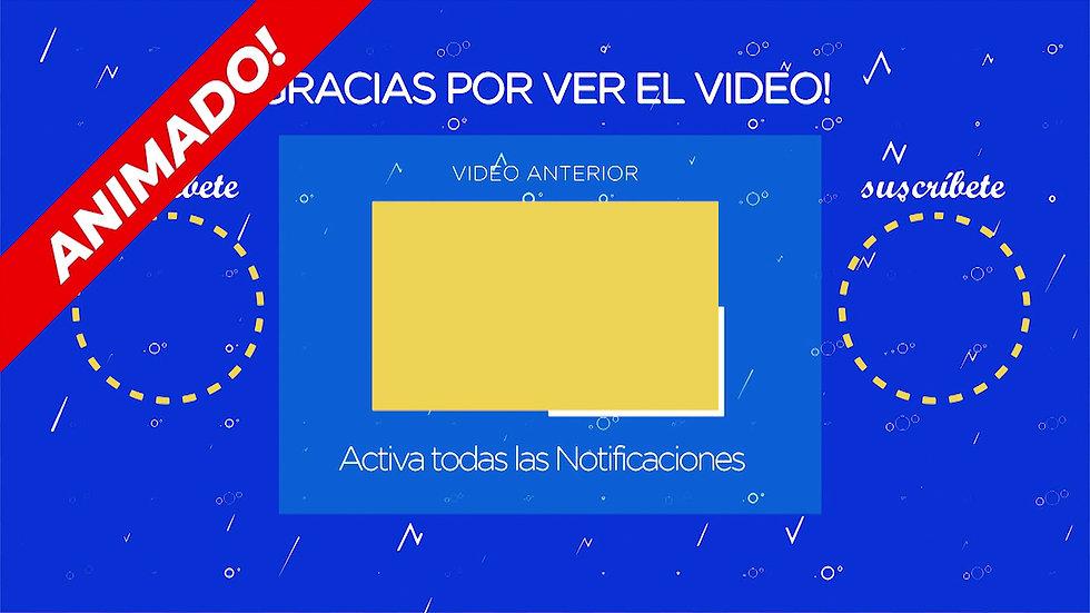 Pantalla Final: Youtube - Azul