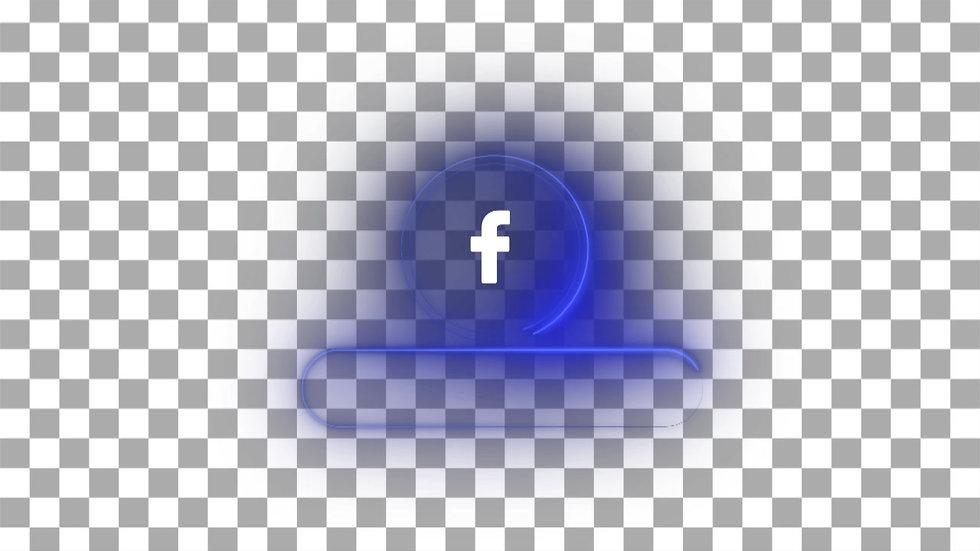 Botón Social Media: Facebook - Neón Circulo