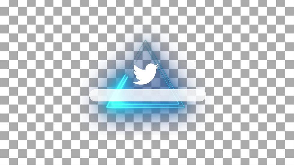 Botón Social Media: Twitter - Neón Triangulo
