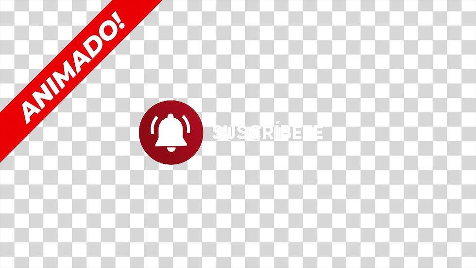 Botón: Circulo Campana Suscribete - 1X1