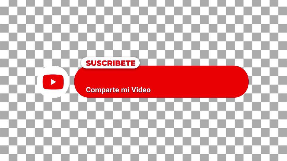 Botón Social Media: Youtube Rojo - Circulo Suscríbete
