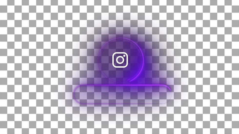 Botón Social Media: Instagram - Neón Circulo
