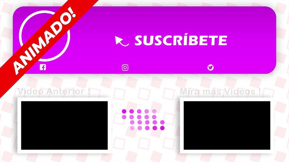 Pantalla Final: Youtube - Blanco Y Lila