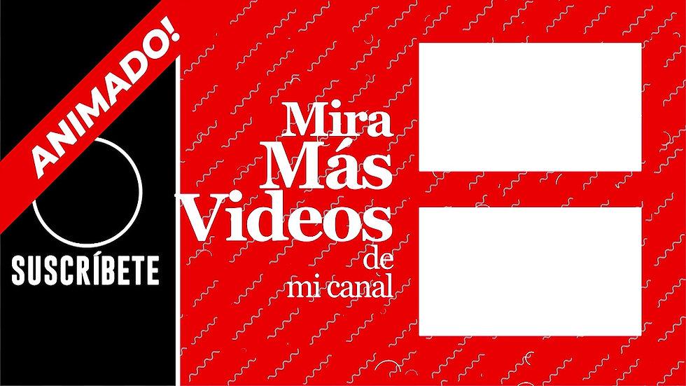 Pantalla Final: Youtube - Roja & Negro