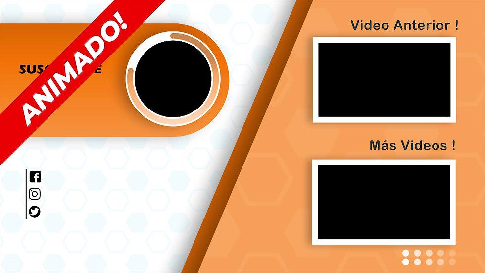 Pantalla Final: Youtube - Blanco Y Naranja