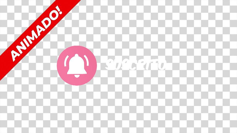 Botón: Suscríbete Campana Blanco - Cute