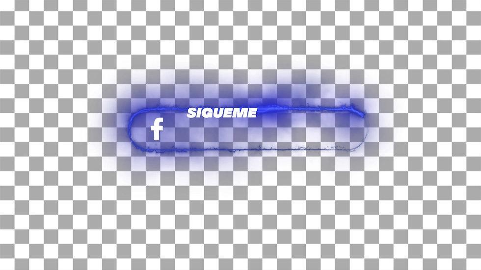 Botón Social Media: Facebook - Neón Sígueme