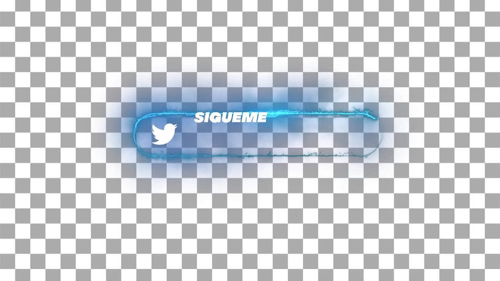 Botón Social Media: Twitter - Neón Sígueme