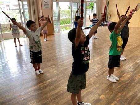 7月26日(月)エイサーとダンス頑張って練習しています☆★