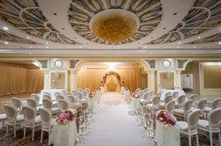 White Chairs At A Wedding  Indoor.
