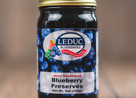 Juice Sweetened Blueberry Preserves 9oz
