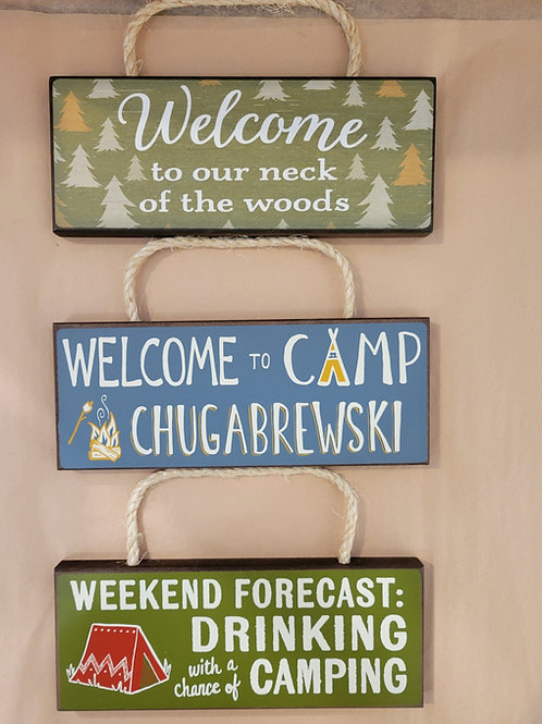 Hanging Camp Signs