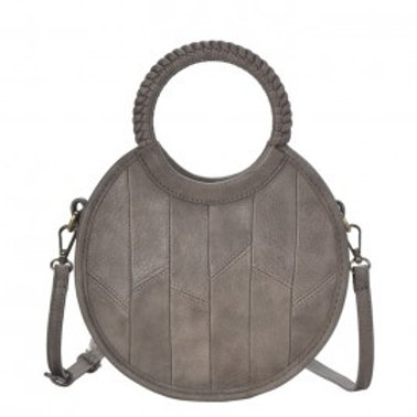 Round Patchwork Crossbody Bag