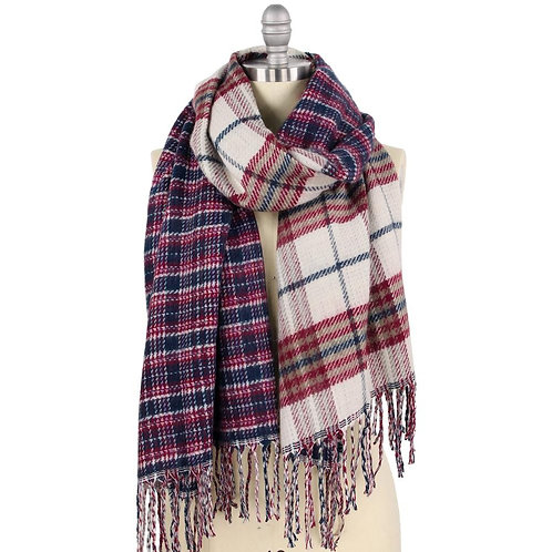 Bridget Double Plaid Scarf
