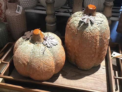 Rustic Pumpkin Set of 2