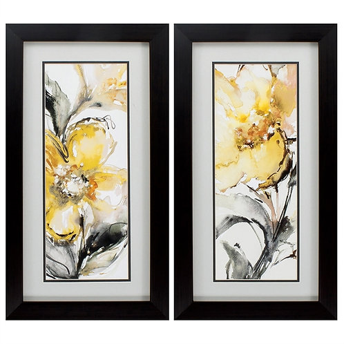 Golden Flower Set of 2