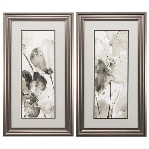 Abstract Flower Set of 2