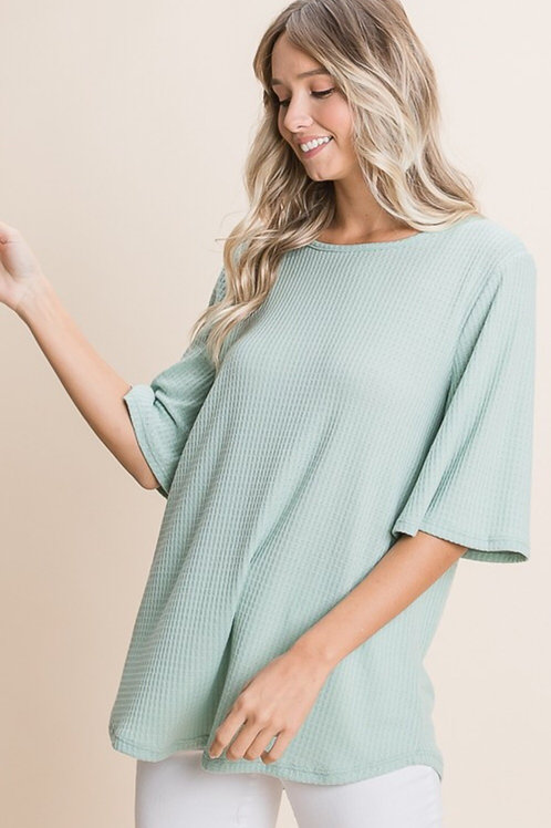 Erica Waffle Knit Top