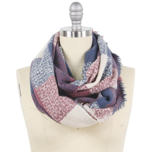 Joanne Checkered Infinity Scarf