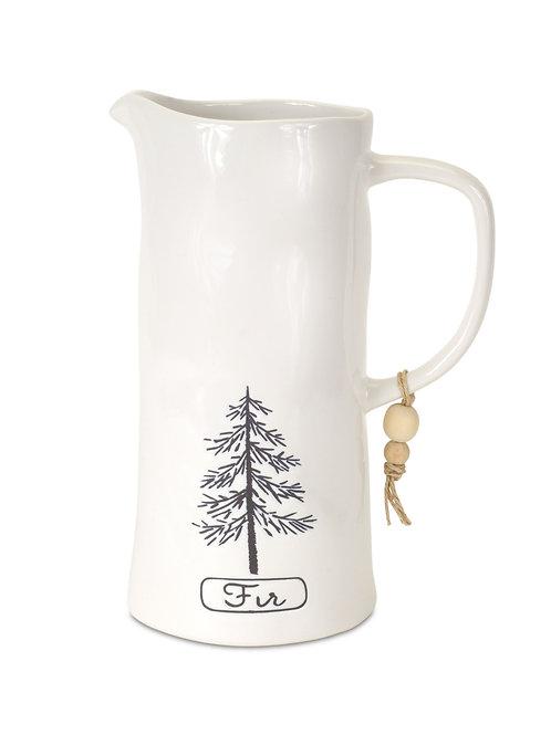 Fir Tree Pitcher Vase