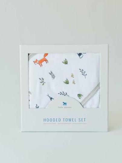 Cotton Muslin Hooded Towel Set