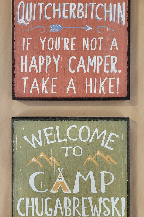 Small Camp Sign