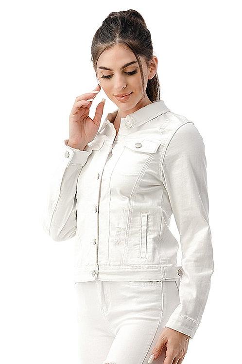 Elana Distressed Denim Jacket