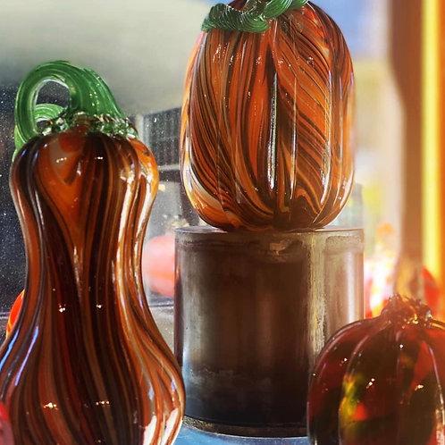 Painterly Glass Pumpkin Set of 3