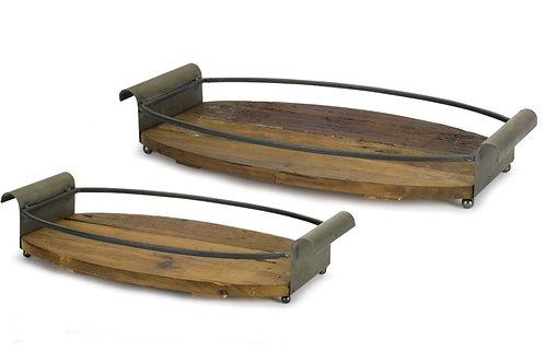 Vinyard Oval Trays Set of 2