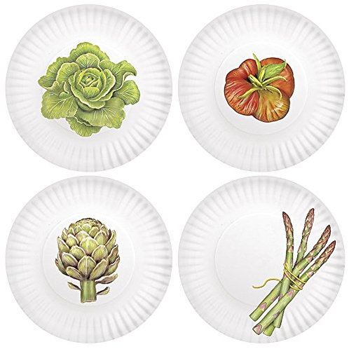 "Garden ""paper"" plates"