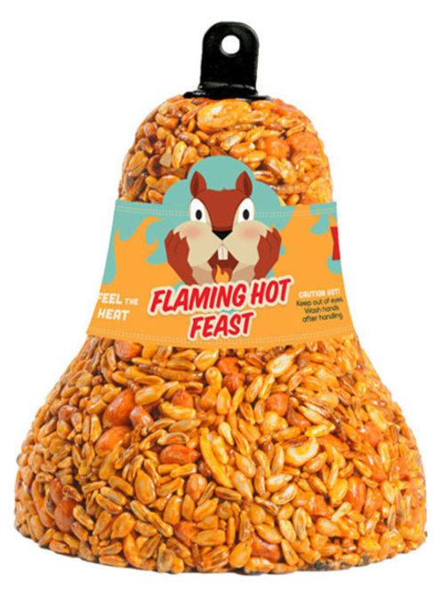 Flaming Hot Feast Bird Seed Bell