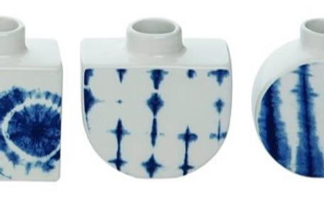Shibori Bud Vases Set of 3