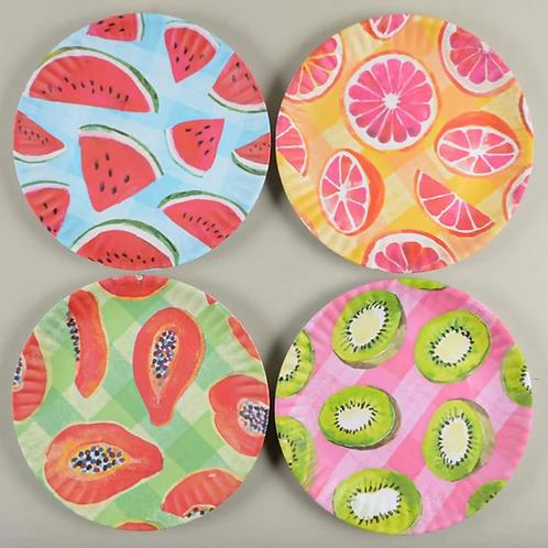 "Assorted Melamine ""paper"" plates"