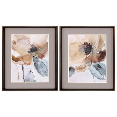 Watercolor Poppy Set of 2