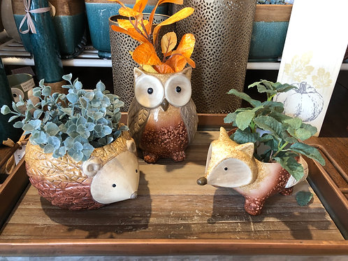 Harvest Critter Planters Set of 3