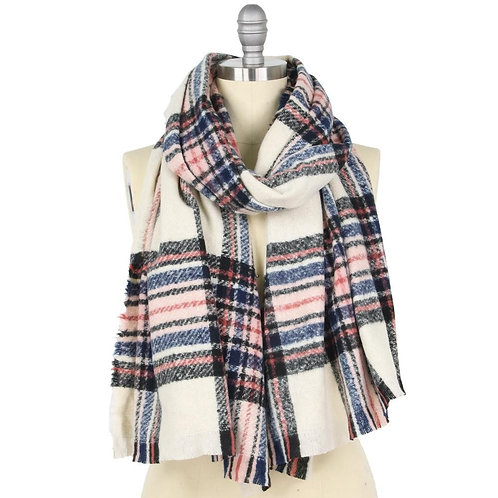 Karen Plaid Fleece Scarf