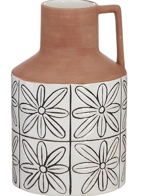 Flower Tile Jug Vase