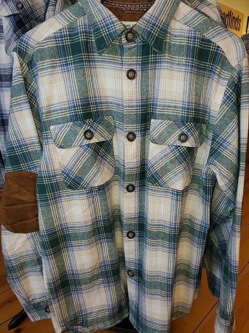 Gunner Plaid Flannel Shirt Jacket