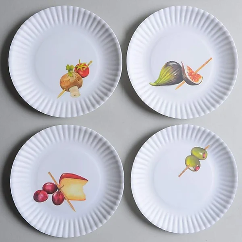 """Hor D'oeuvre """"paper"""" plates"""